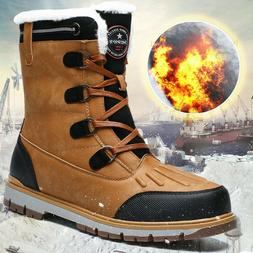Men's Winter Snow Boots High Quality Waterproof Insulated Hu