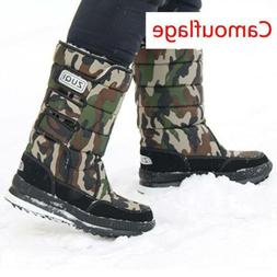 Men Women Winter Snow Boots Fashion Plush Warm Shoes Waterpr