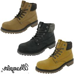 mens boots leather fashion ankle padded work