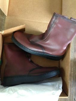 MEN'S BROWN BATES FLOATERS Side Zip up LINED BOOTS  Fall W