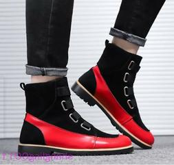 Mens Flats shoes Round toe Match colour Winter Furry Lined W