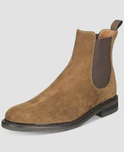 FRYE Mens Seth Suede Chelsea Winter Boots Chestnut 12 NEW IN