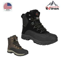 NORTIV 8 Mens Snow Boots Insulated Waterproof Outdoor Hiking