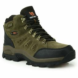 Mens walking casual winter leather waterproof ankle hiking w