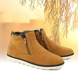 Mens Winter Snow Ankle Boots Slippers Casual Warm Outdoor Co