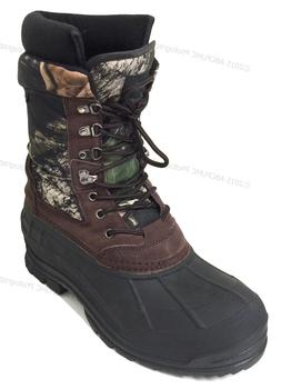"""New Men's Winter Snow Boots Camouflage 10"""" Leather Waterproo"""