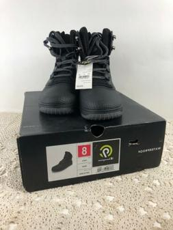 NEW C9 Champion Black Leather Waterproof Men's Winter Boots