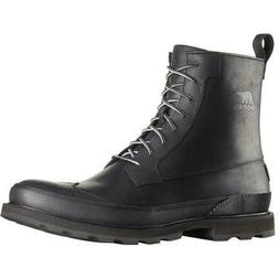 New Sorel Madson Wingtip Leather Winter Snow Boots Waterproo