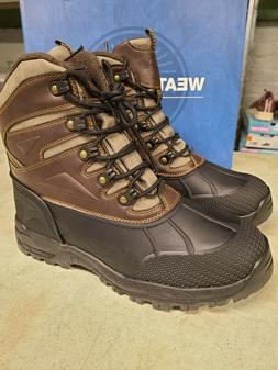 New Weatherproof Men's Clint -20 Rated Brown Winter Boots Me