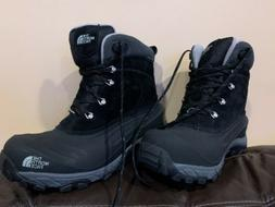 NORTH FACE BLACK LEATHER WINTER FASHION SNOW BOOTS SIZE 8.5