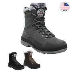 US Men's Snow Boots Suede Leather Comfort Warm Cold Weather