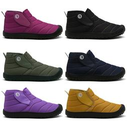 Winter Mens Womens Ankle Warm Shoes Snow Walking Boots Fur L