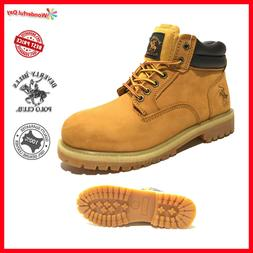 Mens Winter Snow Work Boots Shoes Genuine Leather Waterproof