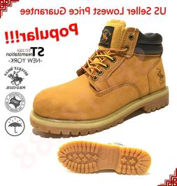BH Polo Winter Snow Work Boots Mens Work Shoes Genuine Leath