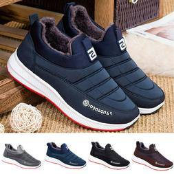 Women's Men's Casual Winter Keep Warm Slip On Round Toe Shor