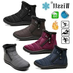 Women's Winter Snow Shoes Man Boots Lightweight Ankle Warm W