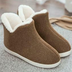 Womens Slippers Shoes Winter Warm Snow Ankle Boots Pull On I